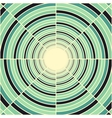 Abstract deep green tube light at end of tunnel vector image vector image