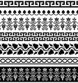 ancient greek pattern - seamless set designs vector image vector image