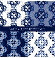 Arabic seamless pattern set vector image