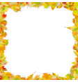 autumn leaves frame isolated on white eps 10 vector image vector image