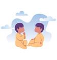 baby twins flat design vector image vector image