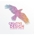 bird eagle geometric paper craft style vector image