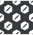 Black hexagon ink pen pattern vector image vector image