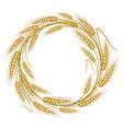 circular frame wreath of wheat ears vector image vector image