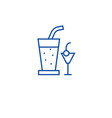 cocktail drinks line icon concept cocktail drinks vector image