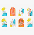 collection creative tags with inspiration vector image