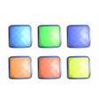 colorful square gems vector image