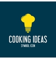 Cooking Ideas Concept Symbol Icon or Logo Template vector image vector image