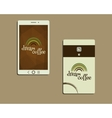 Corporate identity template design For cafe vector image vector image