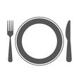 cutlerty icon design vector image vector image