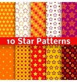 different star seamless patterns tiling vector image vector image