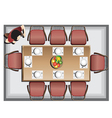 Dining furniture top view set 3 vector image