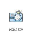 doodle photo icon vector image