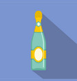 dry champagne icon flat style vector image vector image