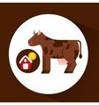 farm countryside cow animal design vector image vector image