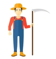 Farmer with scythe vector image