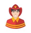 Fireman icon vector image vector image