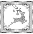 hand drawn jumping deer vector image vector image