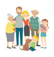 happy family father mother grandfather vector image vector image