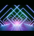 high-detailed neon light background vector image vector image