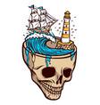 horror sea adventure vector image