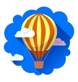 hot air balloon icon in the sky vector image vector image
