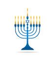 jewish holiday hanukkah vintage menorah vector image