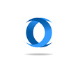 letter o logo blue graphic design geometric shape vector image vector image