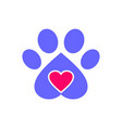 love dog pets logo icon vector image vector image