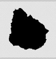 map uruguay isolated black vector image vector image
