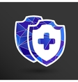 Medical Shield Icon shield flat health vector image vector image