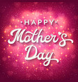 mothers day card with bokeh blurred hearts vector image vector image