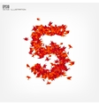 Number 5 Numbers with origami paper bird on vector image vector image