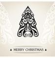Ornamental vintage christmas card vector image