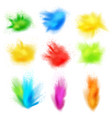 paint splashes realistic set vector image vector image