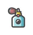perfume vintage bottle icon cartoon vector image
