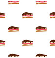 piece of cake with chocolate cream pattern vector image vector image