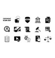 policy copyright icon terms and conditions legal vector image
