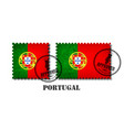portugal or portuguese flag pattern postage stamp vector image