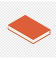 red book isometric icon vector image vector image