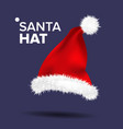 red santa hat traditional costume winter vector image vector image