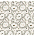 Seamless floral pattern of curved spring vector image vector image