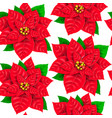 seamless pattern poinsettia vector image vector image