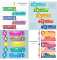 set of four elements of infographic design vector image