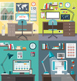 Set of in flat design style Modern home or vector image