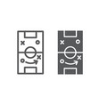 soccer strategy line and glyph icon game and vector image vector image