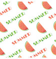 summer pattern - seamless with watermelons vector image
