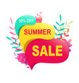 summer sale banner 50 discount tropical hot promo vector image
