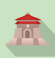 taiwan temple icon flat style vector image vector image