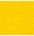 thin line internet things seamless yellow vector image